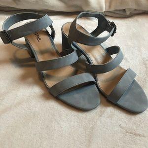 Just Fab Baby Blue Sandals Block Heel